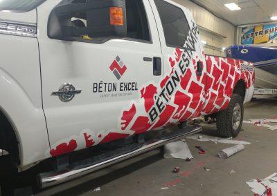 Lettrage de véhicule – Beton Excel
