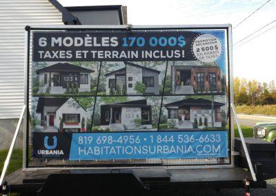 Panneau publicitaire – Habitations Urbania