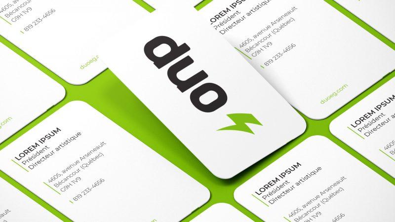 Cartes d'affaires coins ronds - Duo