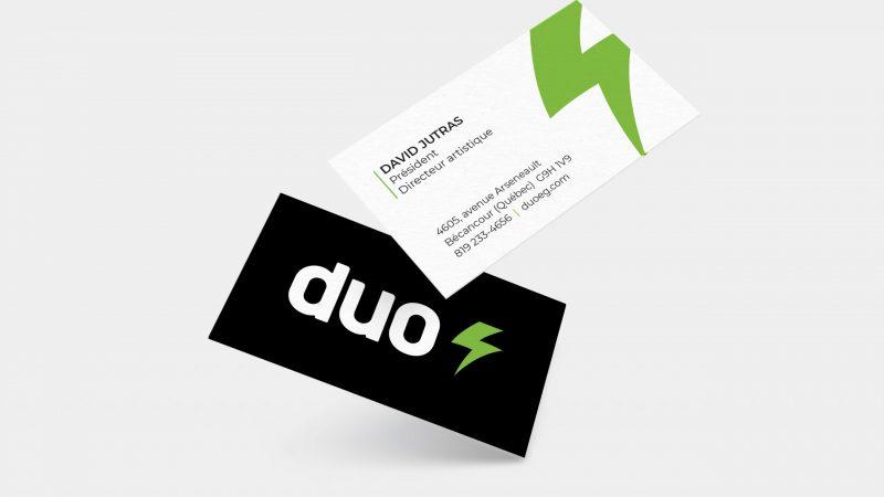 Cartes d'affaires - Duo