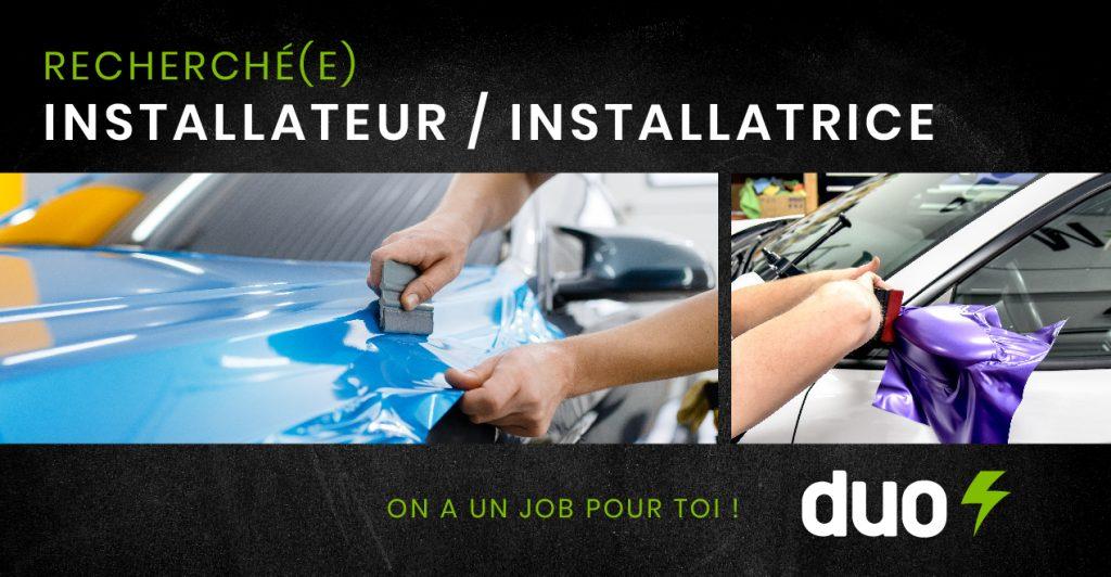 Offre d'emploi - Installateur - Duo