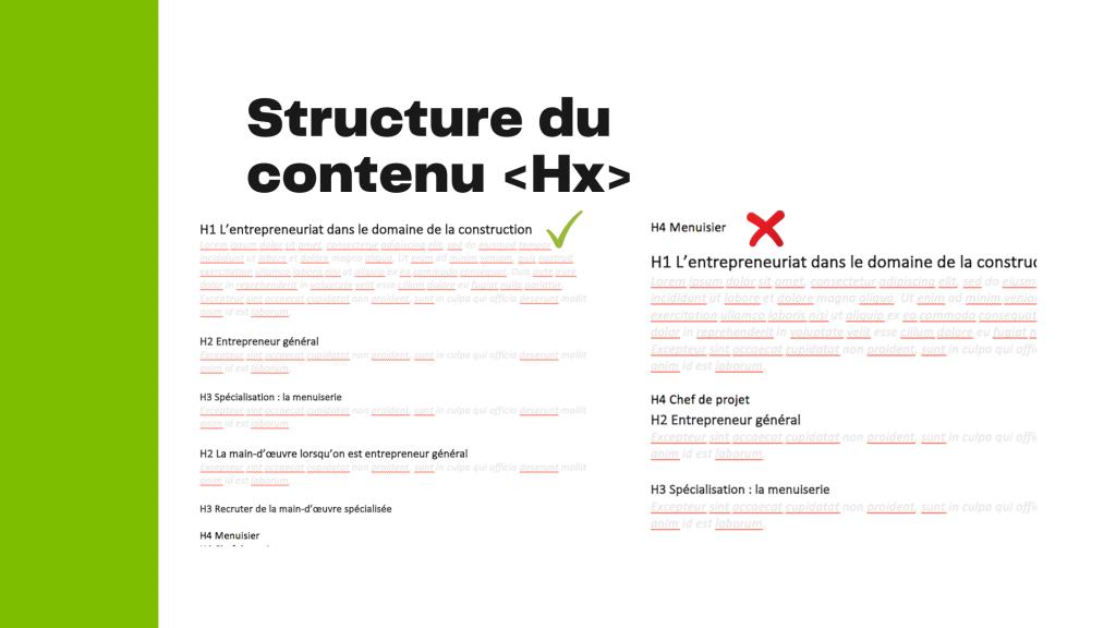 Exemple structure de contenu Web - Agence Duo