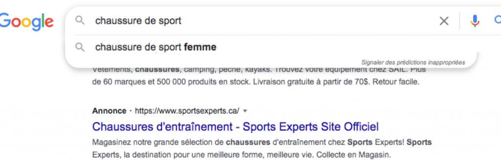 Exemple requête Google - Agence Duo